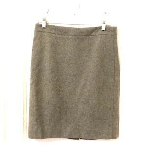 JCrew the pencil skirt in grey, size 2